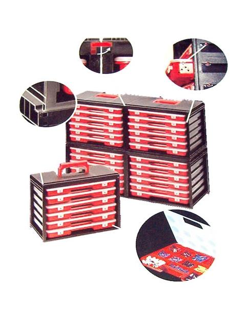 CAJA 6 CAJONES CLASIFICADOR 35X30X23 PLA
