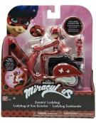 Moto con figura de Ladybug Bandai.